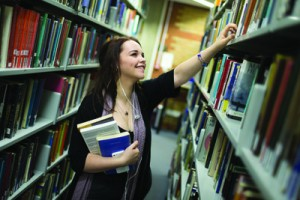 Female student in library_3799